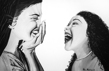 Mother and Daughter - Acrylic on Canvas 80 x 120 cm