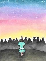 A warrior of light knows that he has much to be grateful for. He was helped in his struggle by the angels; celestial forces placed each thing in its place, thus allowing him to give of his best. His companions say: 'He's so lucky!' And the warrior does sometimes achieve things far beyond his capabilities. That is why, at sunset, he kneels and gives thanks for the Protective Cloak surrounding him. His gratitude, however, is not limited to the spiritual world; he never forgets his friends, for their blood mingled with his on the battlefield. A warrior does not need to be reminded of the help given him by others; he is the first to remember and makes sure to share with them any rewards he receives. • • • Un guerriero della luce non dimentica mai la gratitudine. Durante la lotta è stato aiutato dagli angeli. Le forze celestiali hanno messo ogni cosa al proprio posto, permettendo a lui di dare il meglio di sé. I compagni commentano: 'Com'è fortunato!' E talvolta il guerriero ottiene assai più di quanto le sue capacità consentano. Perciò, quando il sole tramonta, si inginocchia e ringrazia il Manto Protettore che lo circonda. La sua gratitudine, però, non è limitata al mondo spirituale: egli non dimentica mai gli amici, perché il loro sangue si è mescolato con il suo campo di battaglia. Un guerriero non ha bisogno che qualcuno gli rammenti l'aiuto degli altri: se ne ricorda da solo, e divide con loro la ricompensa.